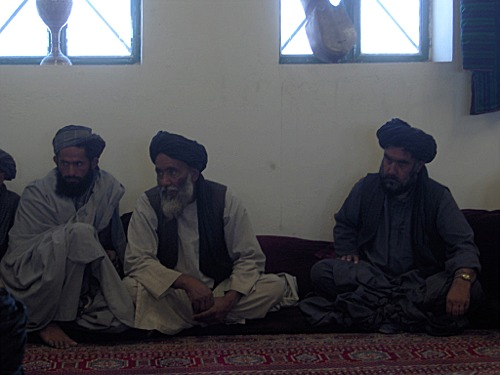 Tribal leaders in Tarin Kowt, Uruzgan