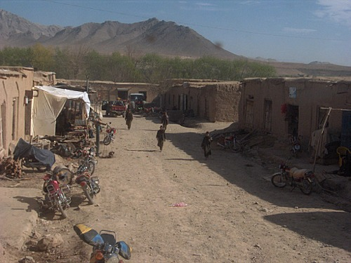 Main street in Chora District, Uruzgan