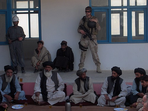 Meeting of tribal leaders in Chora District, Uruzgan