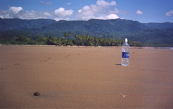 Deserted beach at Bahía, Costa Rica
