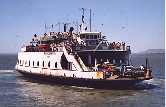 Ferry leaving Puntarenas