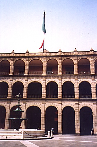 Presidential palace, Mexico City