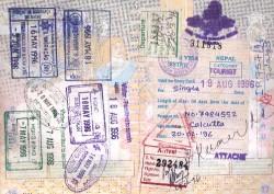 Voorbeeld van een visum voor Nepal, aangevraagd in India