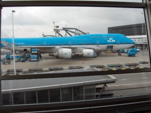 KLM vliegtuig op Schiphol