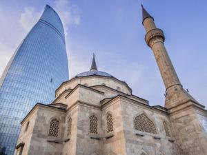 Moskee in de hoofdstad Bakoe