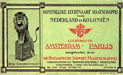 Oud KLM-vliegticket