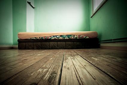 Couchsurfing: slapen op een matras op de grond