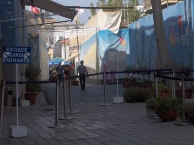 Griekse deel van de grensovergang in Nicosia