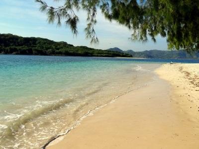 Strand op Gili Nanggu in Indonesië