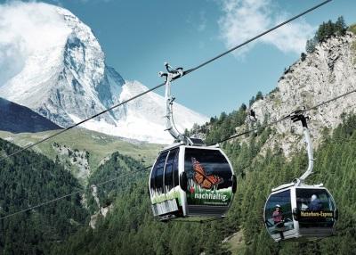 Kabelbaan in Klein Matterhorn, Zwitserland
