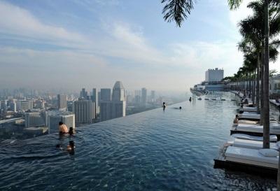 Zwembad in Marina Bay Sands Resort