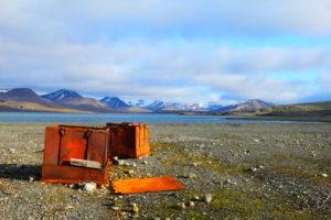 Strand op Spitsbergen