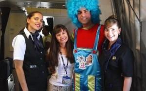 Clowns bij El Al Airlines