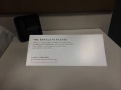 Marriott envelop voor fooi