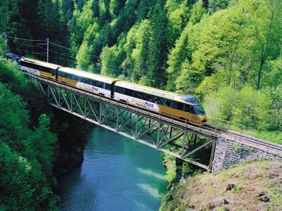 GoldenPass trein in Zwitserland