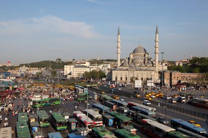 Busstation in Istanbul, Turkije