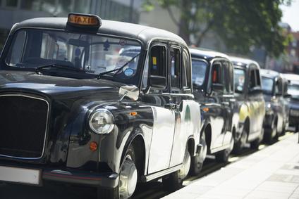 Reizen met de taxi in Londen