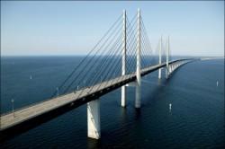 Oresund brug tussen Denemarken en Zweden