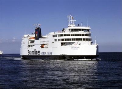 Veerboot van Scandlines van Duitsland naar Denemarken