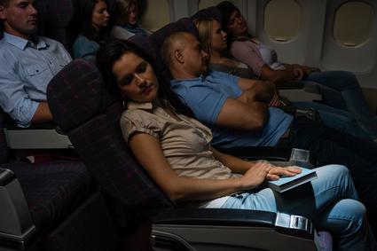 Boeing helpt 't slapen in een vliegtuig