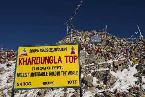 Khardung La, hoogste autoweg in India