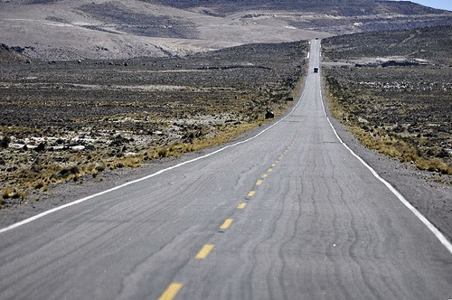 Autoweg van Chivay naar Arequipa