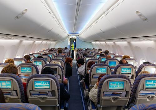 Stoelen in het vliegtuig