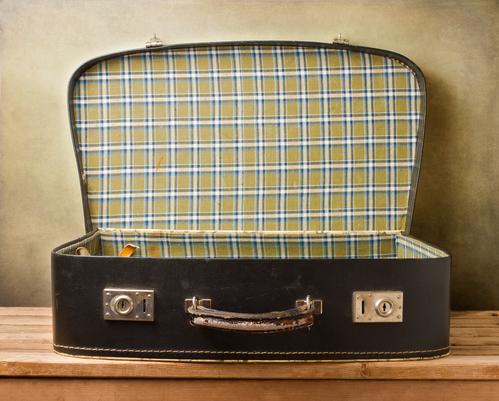 Koffer die leeg is
