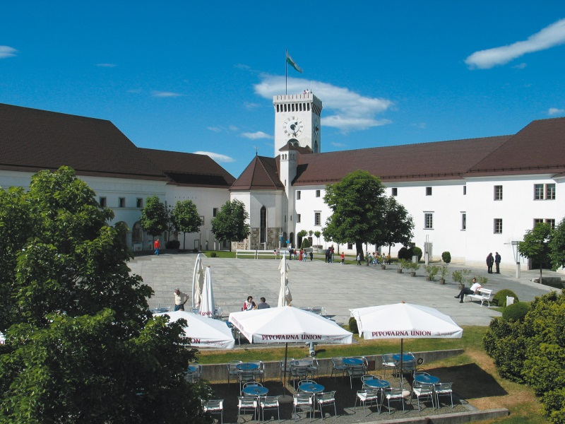 Toren van kasteel Ljubljana