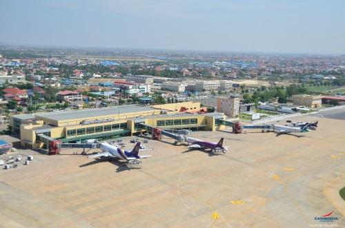 Vliegen naar Cambodja