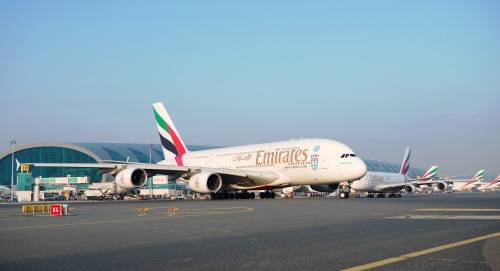 Platform van Dubai luchthaven