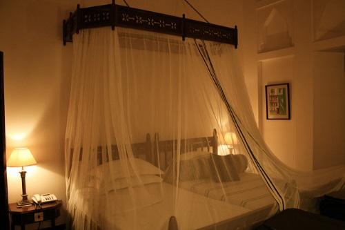 Muskietennet in de slaapkamer