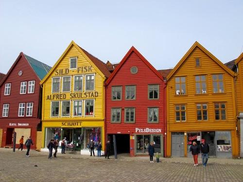 Vliegen naar Bergen, Noorwegen