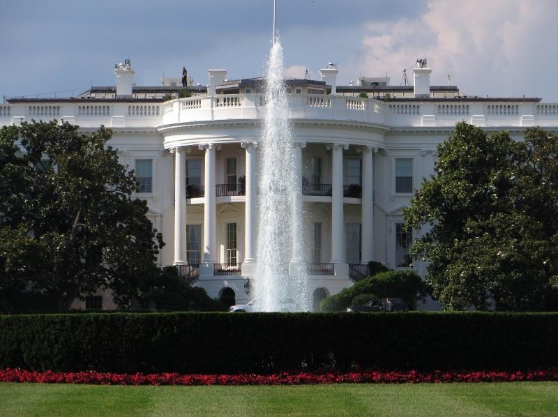 Voorkant Witte Huis in Washington D.C.
