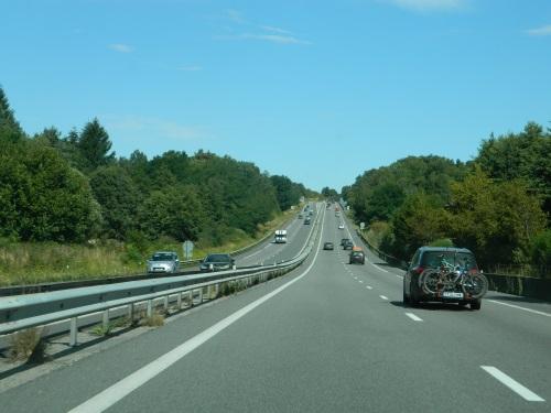 Auto op de snelweg