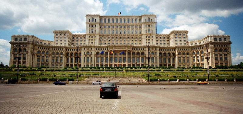 Panorama van Parlementspaleis Boekarest