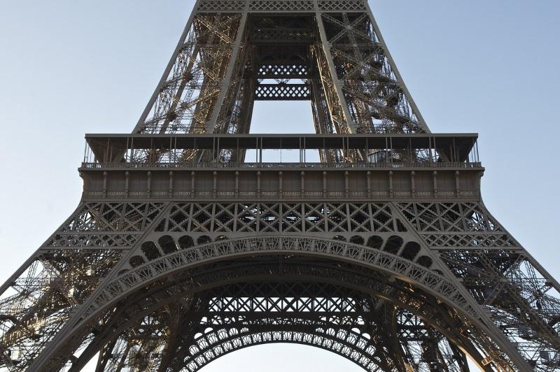 Structuur Eiffeltoren in Parijs