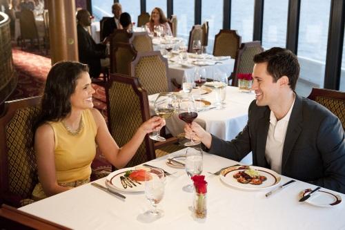 Dineren op een cruiseschip